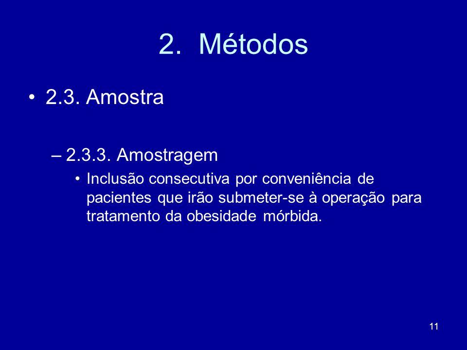 11 2.Métodos 2.3. Amostra –2.3.3.