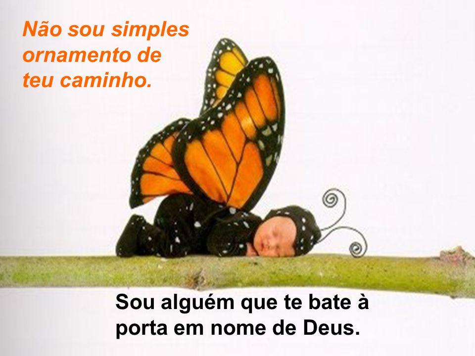 Não sou simples ornamento de teu caminho. Sou alguém que te bate à porta em nome de Deus.