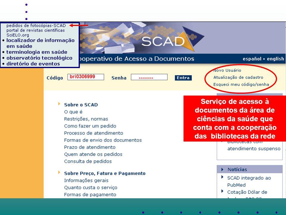 ******* bri0306999 Serviço de acesso à documentos da área de ciências da saúde que conta com a cooperação das bibliotecas da rede