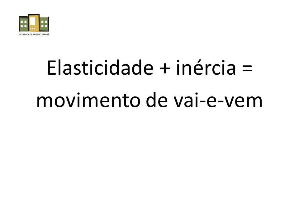 Elasticidade + inércia = movimento de vai-e-vem