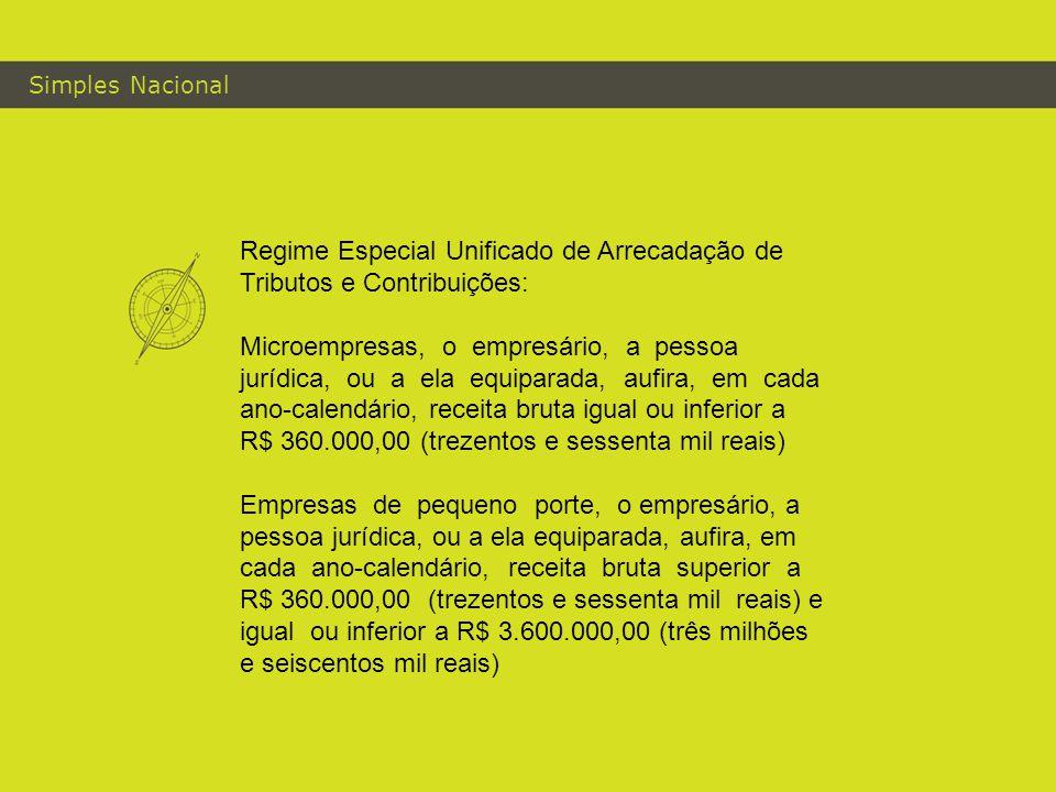 Simples Nacional Regime Especial Unificado de Arrecadação de Tributos e Contribuições: Microempresas, o empresário, a pessoa jurídica, ou a ela equipa