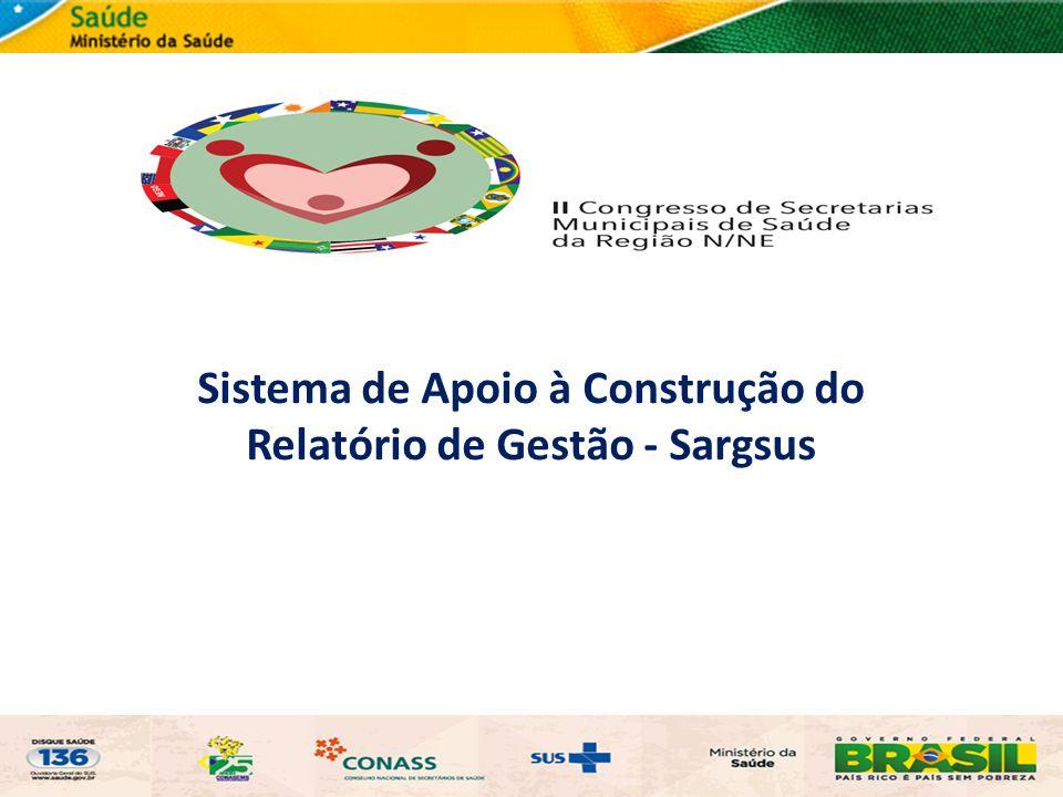 Sistema de Apoio à Construção do Relatório de Gestão - Sargsus