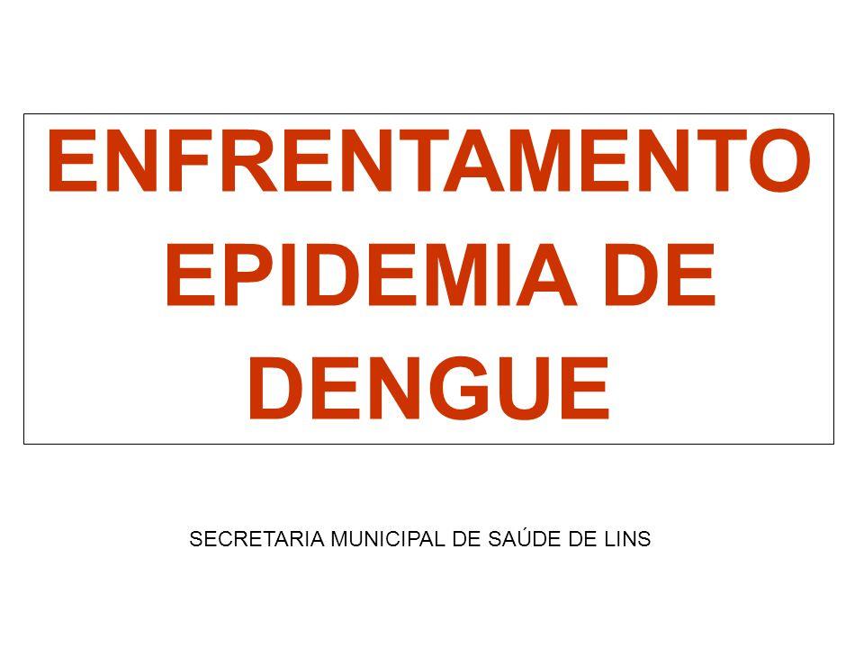 ENFRENTAMENTO EPIDEMIA DE DENGUE SECRETARIA MUNICIPAL DE SAÚDE DE LINS