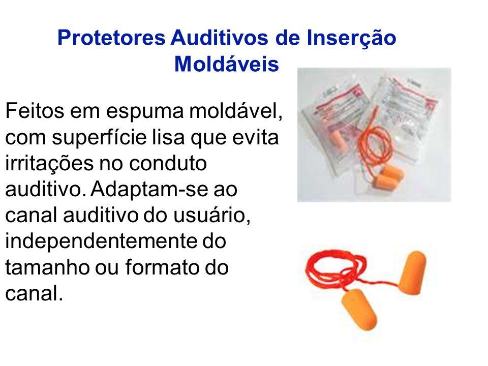 Feitos em espuma moldável, com superfície lisa que evita irritações no conduto auditivo.