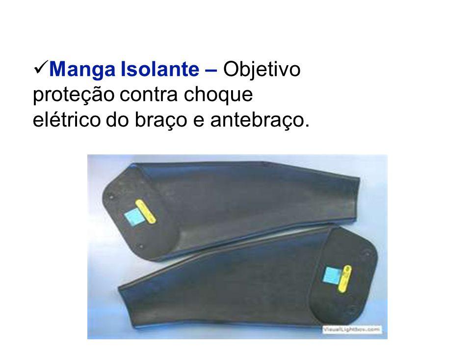 Manga Isolante – Objetivo proteção contra choque elétrico do braço e antebraço.