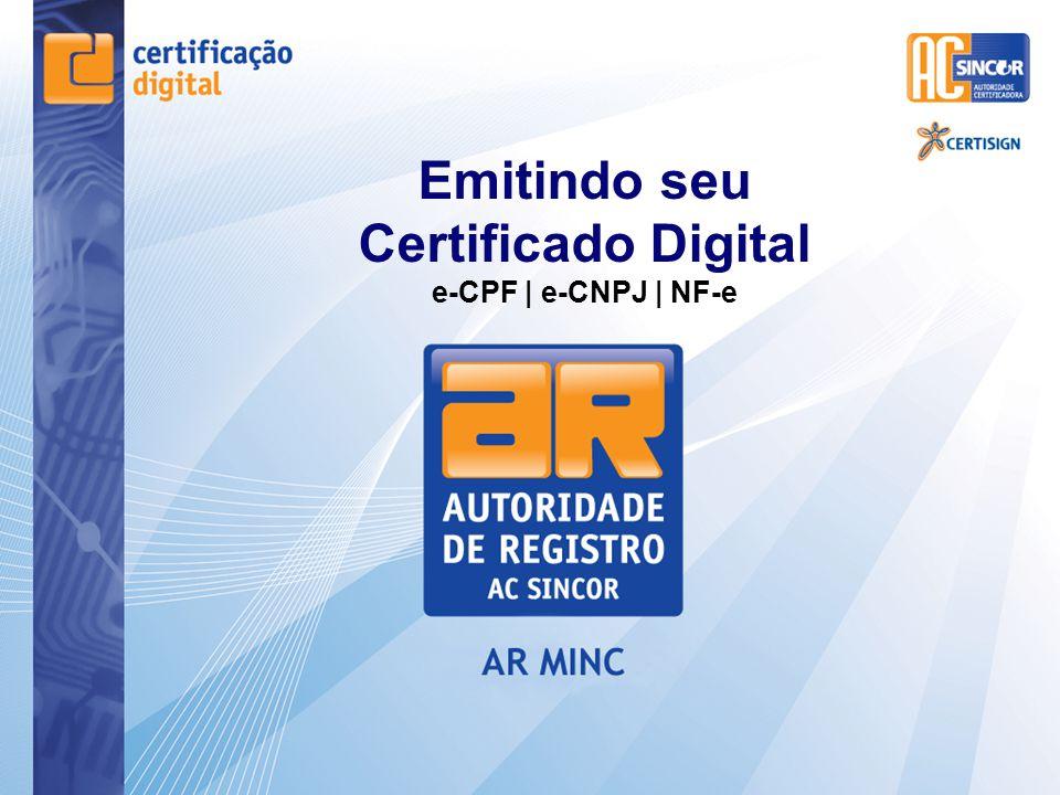 Emitindo seu Certificado Digital e-CPF | e-CNPJ | NF-e