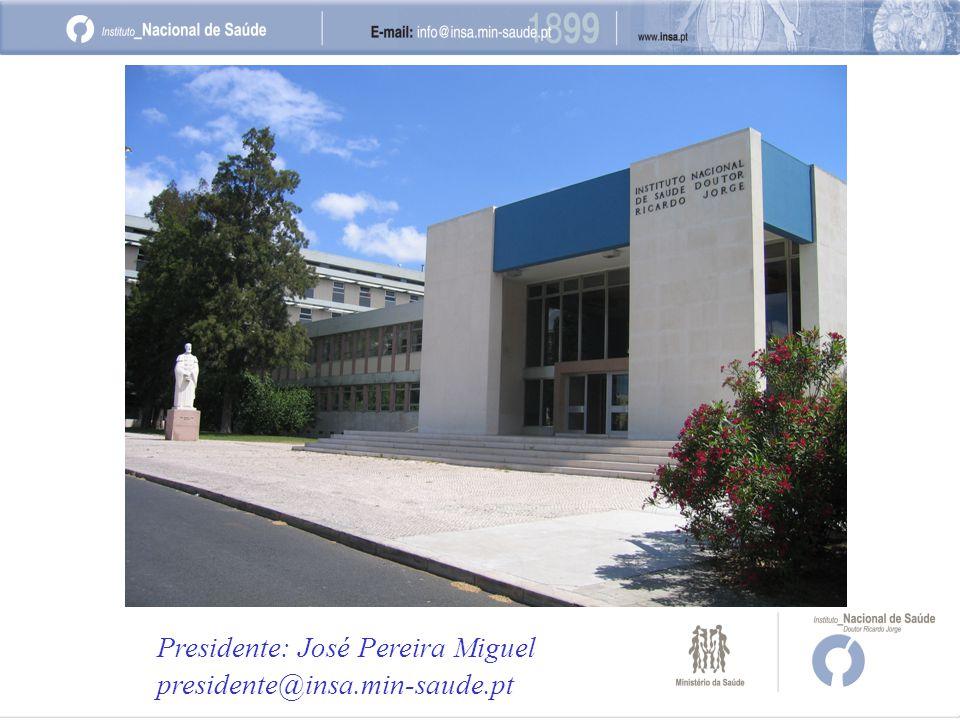 Presidente: José Pereira Miguel presidente@insa.min-saude.pt
