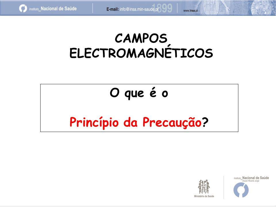 O que é o Princípio da Precaução? CAMPOS ELECTROMAGNÉTICOS