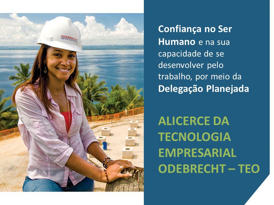Confiança no Ser Humano e na sua capacidade de se desenvolver pelo trabalho, por meio da Delegação Planejada ALICERCE DA TECNOLOGIA EMPRESARIAL ODEBRECHT – TEO