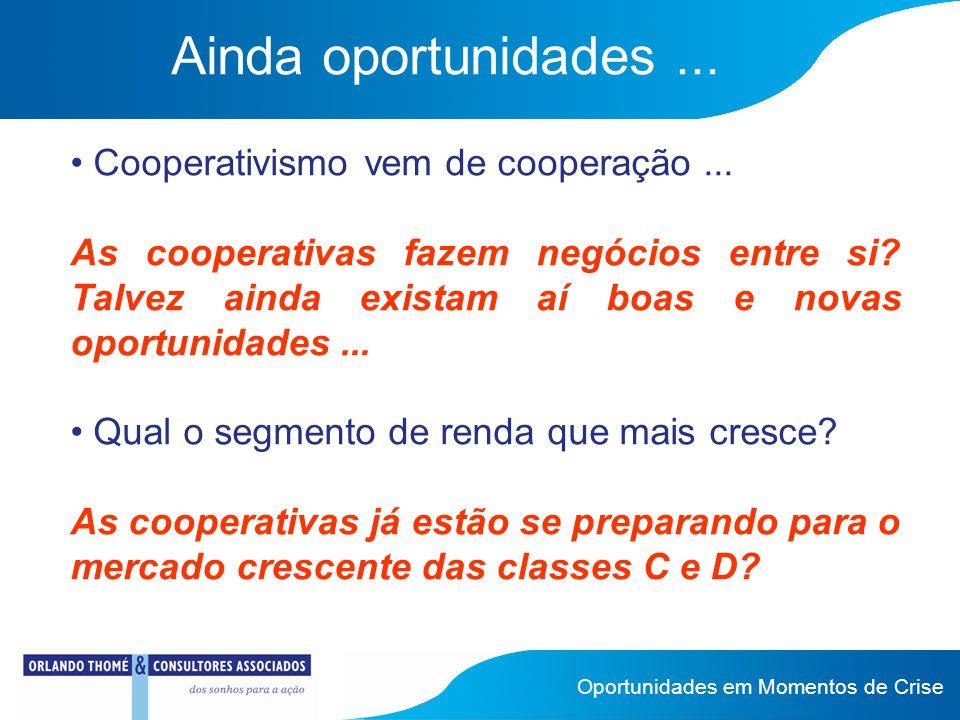 Ainda oportunidades... Cooperativismo vem de cooperação...