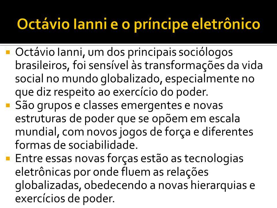  Octávio Ianni, um dos principais sociólogos brasileiros, foi sensível às transformações da vida social no mundo globalizado, especialmente no que di