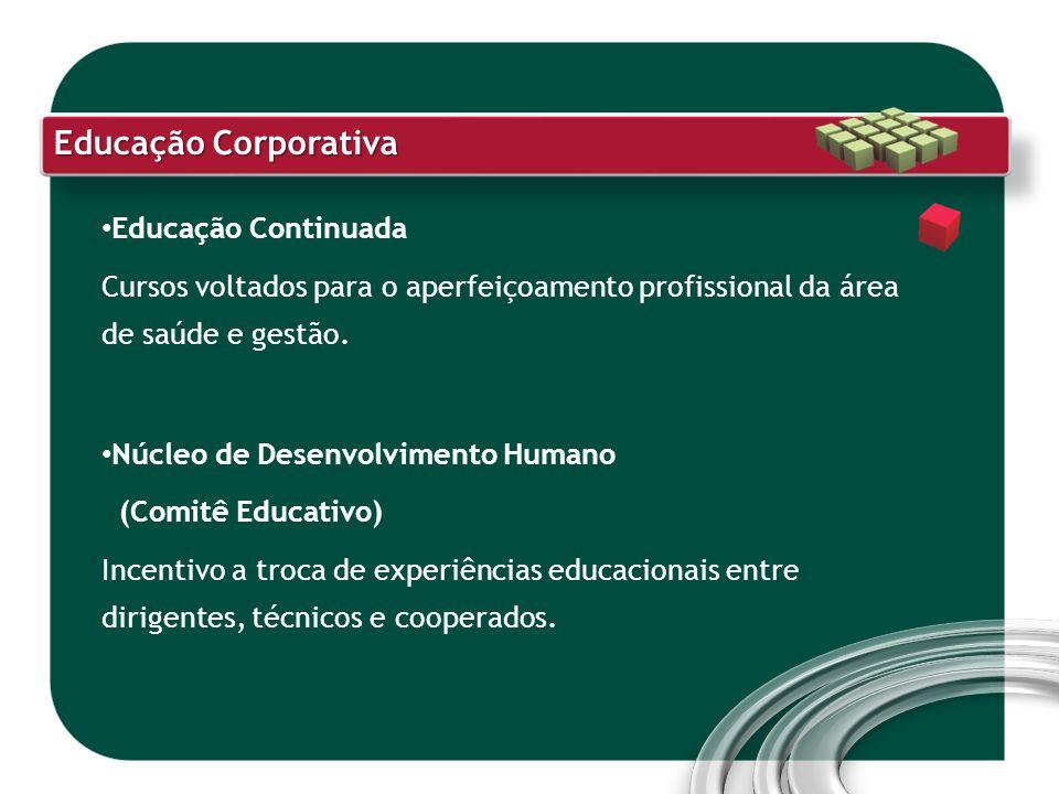Educação Continuada Cursos voltados para o aperfeiçoamento profissional da área de saúde e gestão. Núcleo de Desenvolvimento Humano (Comitê Educativo)