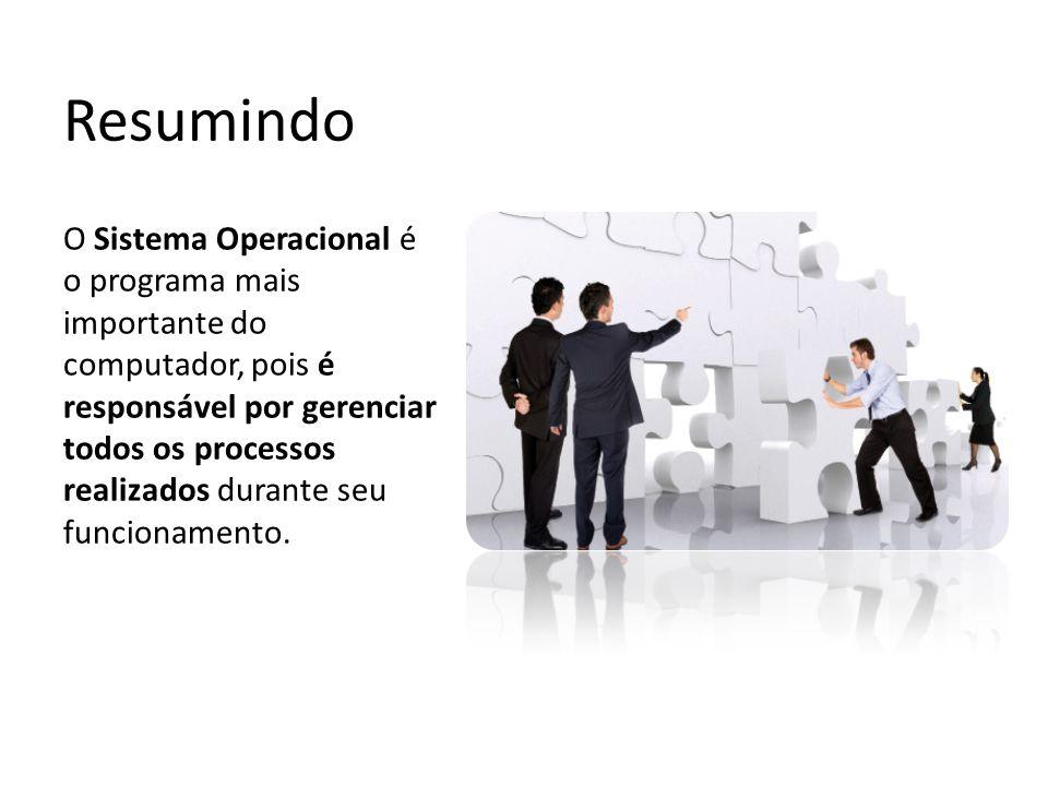 Resumindo O Sistema Operacional é o programa mais importante do computador, pois é responsável por gerenciar todos os processos realizados durante seu