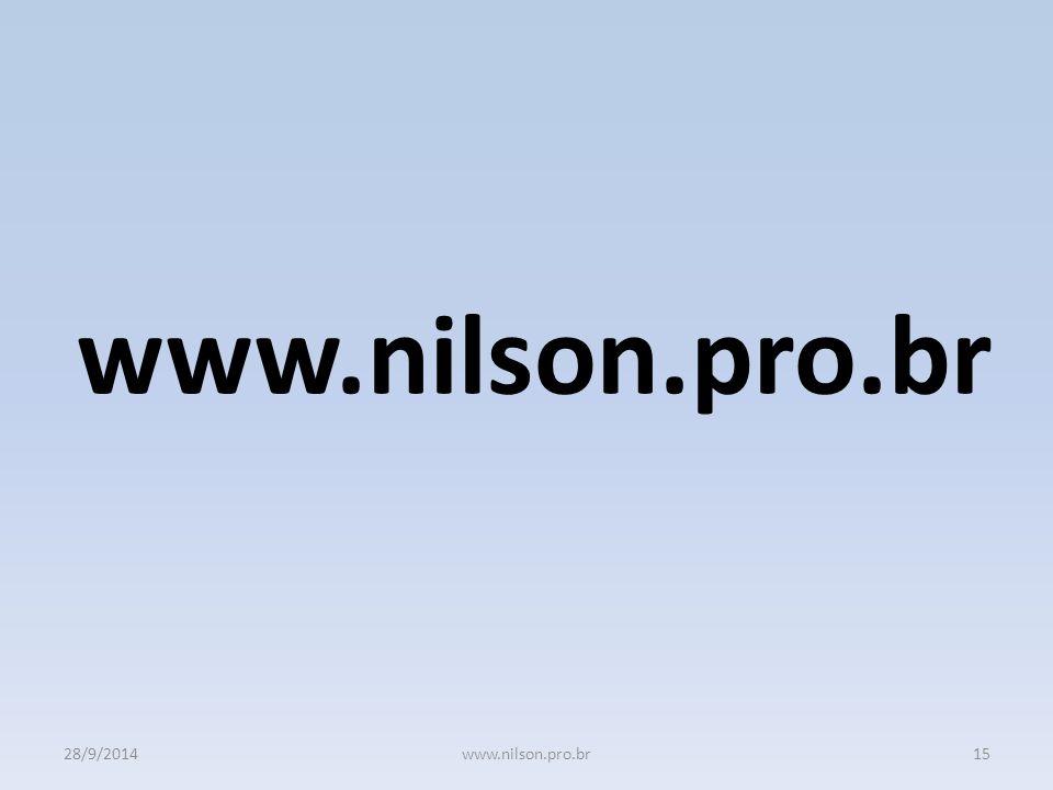 28/9/201415www.nilson.pro.br