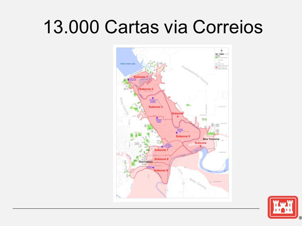 13.000 Cartas via Correios