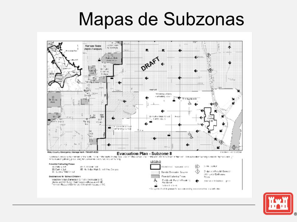 Mapas de Subzonas