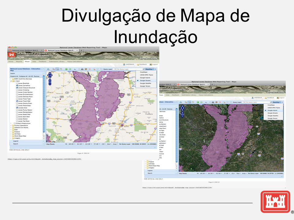 Divulgação de Mapa de Inundação