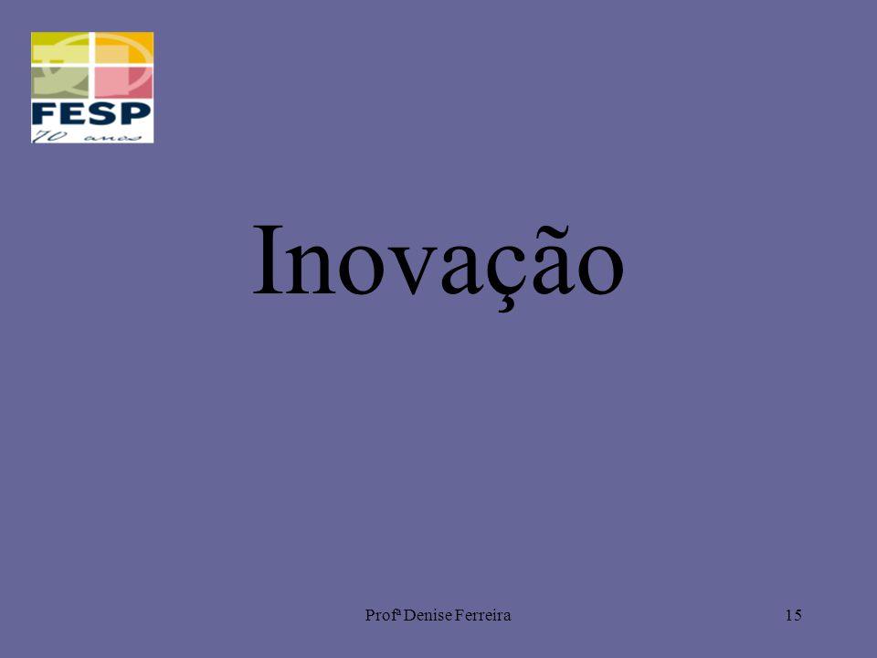 Profª Denise Ferreira15 Inovação