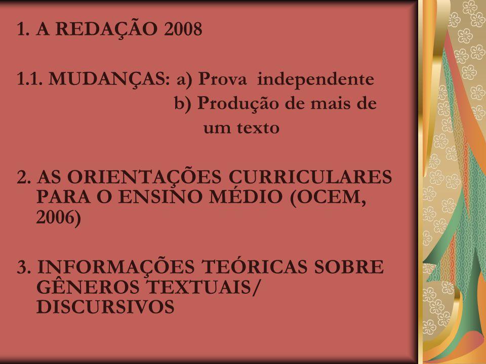 PSS 2008 PSS 2008 PROVA DE REDAÇÃO