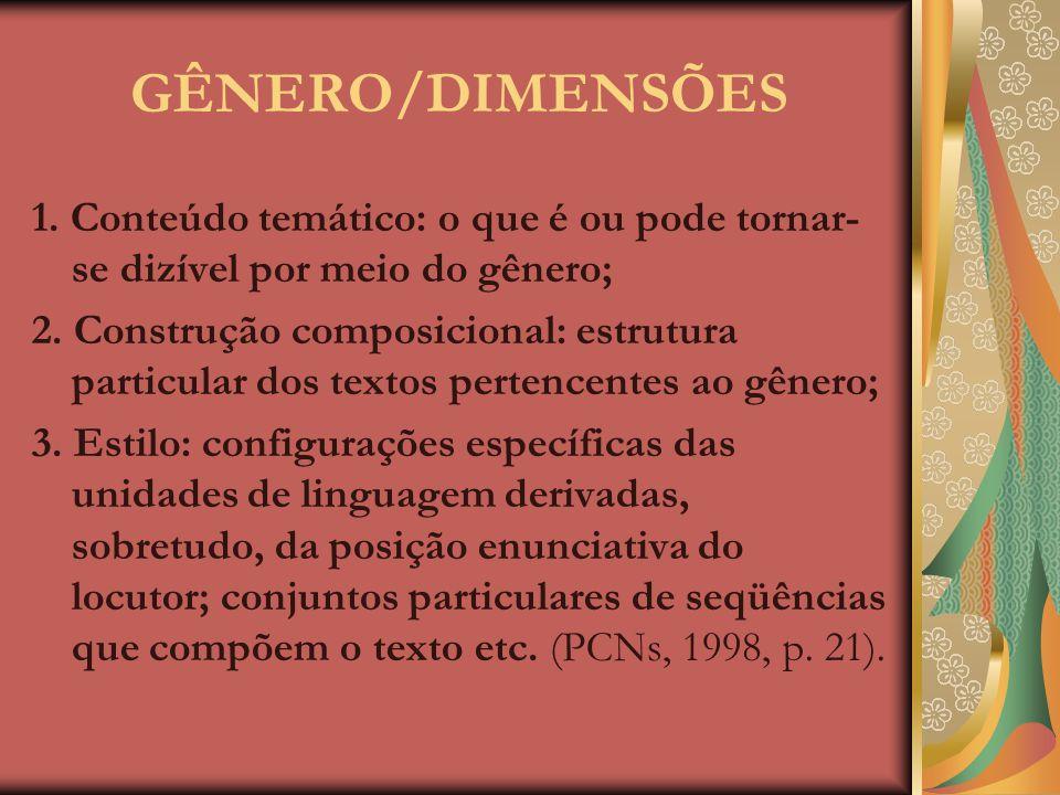 GÊNEROS TEXTUAIS/DISCURSIVOS Os gêneros textuais/discursivos, no momento da produção/realização/enun- ciação, estão intimamente ligados a operações di
