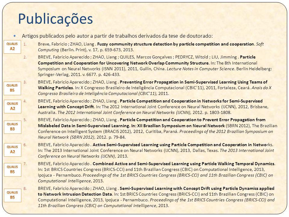 Publicações Artigos publicados pelo autor a partir de trabalhos derivados da tese de doutorado: 1.