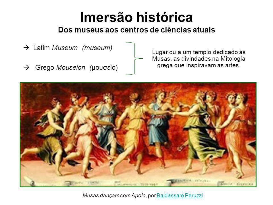  Latim Museum (museum)  Grego Mouseion (μουσείο) Lugar ou a um templo dedicado às Musas, as divindades na Mitologia grega que inspiravam as artes.