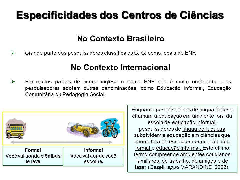 No Contexto Brasileiro  Grande parte dos pesquisadores classifica os C.
