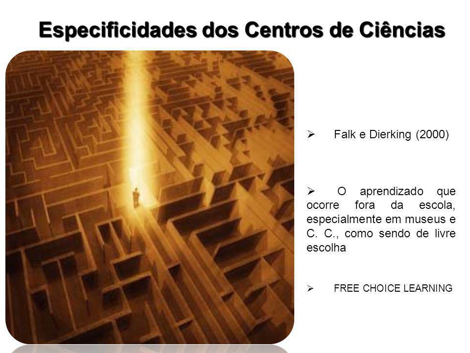  Falk e Dierking (2000)  O aprendizado que ocorre fora da escola, especialmente em museus e C.