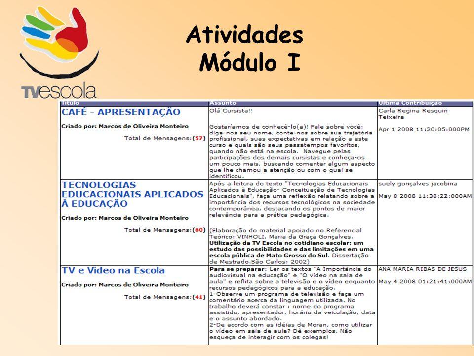Atividades Módulo I