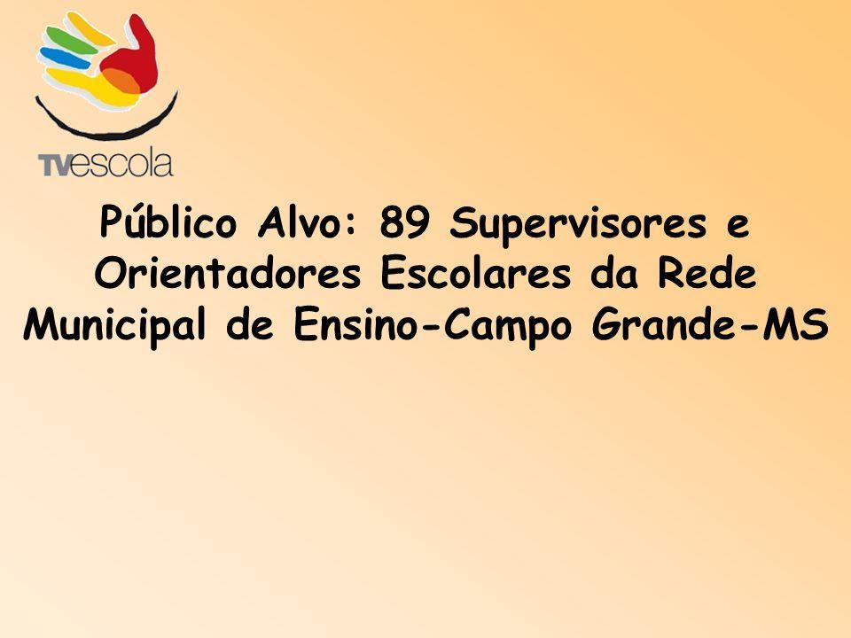 Público Alvo: 89 Supervisores e Orientadores Escolares da Rede Municipal de Ensino-Campo Grande-MS