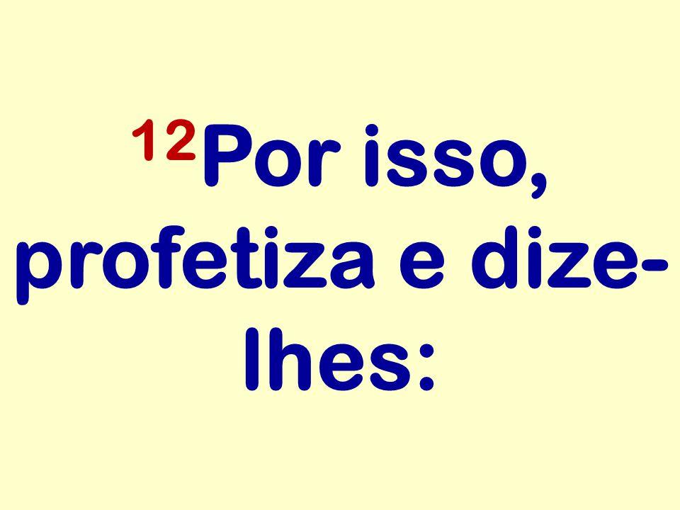12 Por isso, profetiza e dize- lhes: