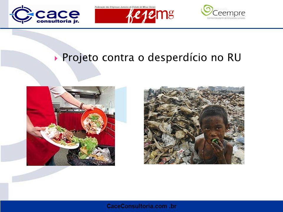 CaceConsultoria.com.br  Projeto contra o desperdício no RU