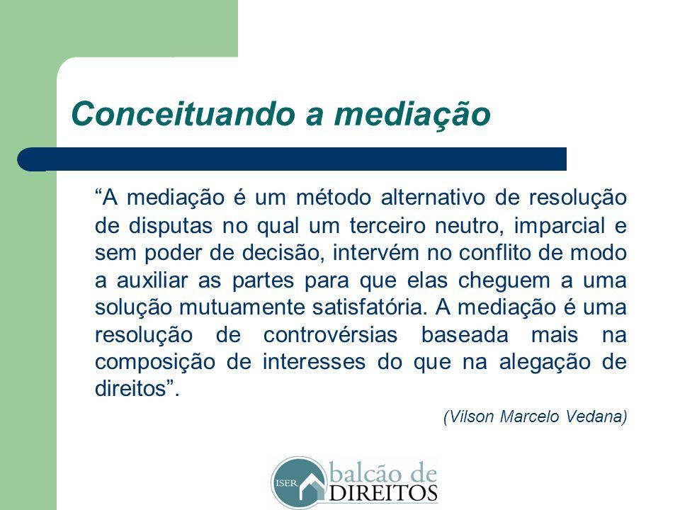 A mediação De um modo geral, a mediação se destaca como um importante meio para administrar disputas eis que grande parte dos conflitos existentes oco