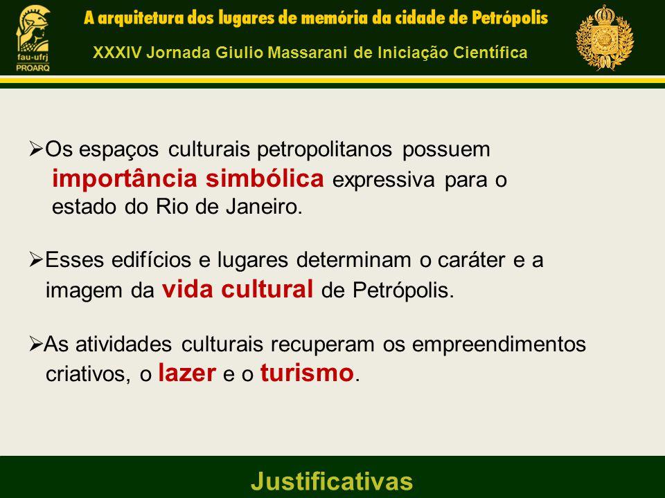  Os espaços culturais petropolitanos possuem importância simbólica expressiva para o estado do Rio de Janeiro.  Esses edifícios e lugares determinam