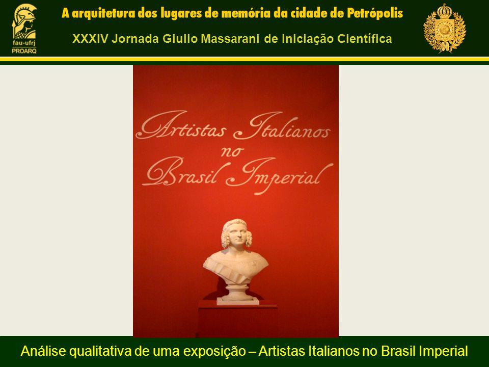 Pedro Henrique Penalva, bolsista de Extensão, Universidade Federal do Rio de Janeiro Análise qualitativa de uma exposição – Artistas Italianos no Bras