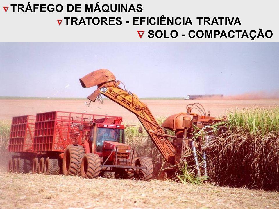  TRÁFEGO DE MÁQUINAS  TRATORES - EFICIÊNCIA TRATIVA  SOLO - COMPACTAÇÃO  SOLO - COMPACTAÇÃO