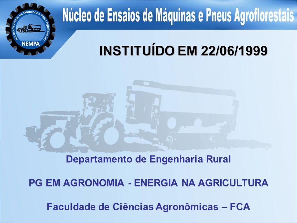 INSTITUÍDO EM 22/06/1999 Departamento de Engenharia Rural PG EM AGRONOMIA - ENERGIA NA AGRICULTURA Faculdade de Ciências Agronômicas – FCA