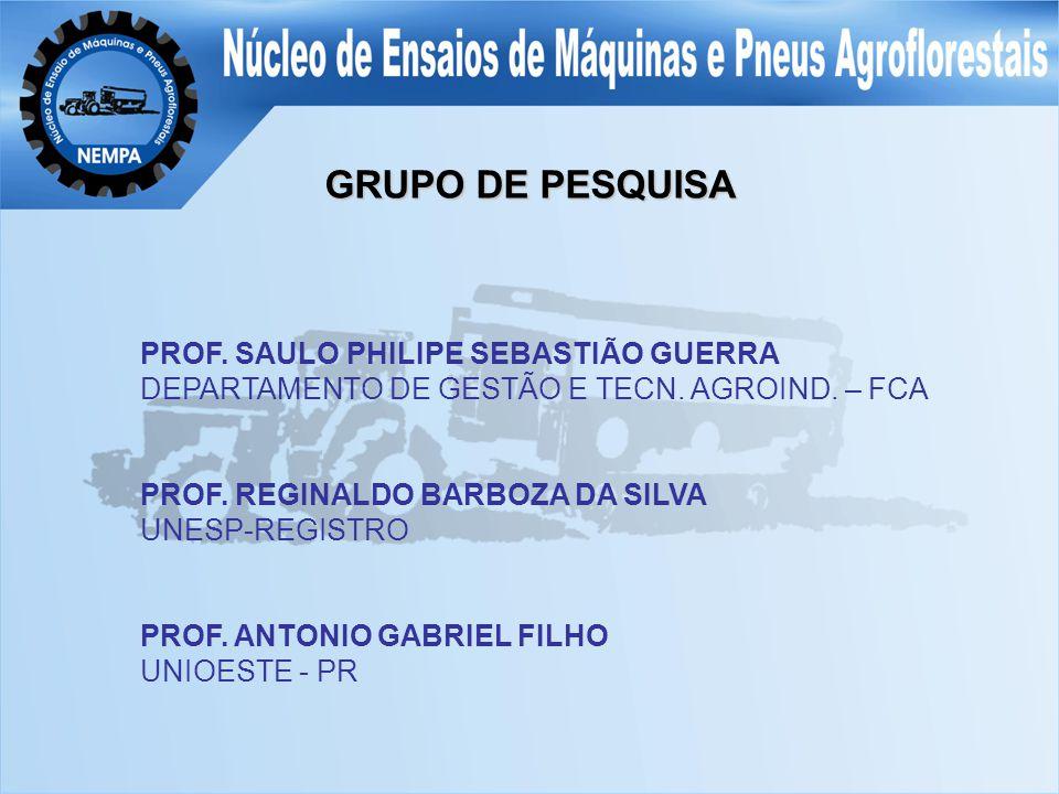 GRUPO DE PESQUISA PROF. SAULO PHILIPE SEBASTIÃO GUERRA DEPARTAMENTO DE GESTÃO E TECN.
