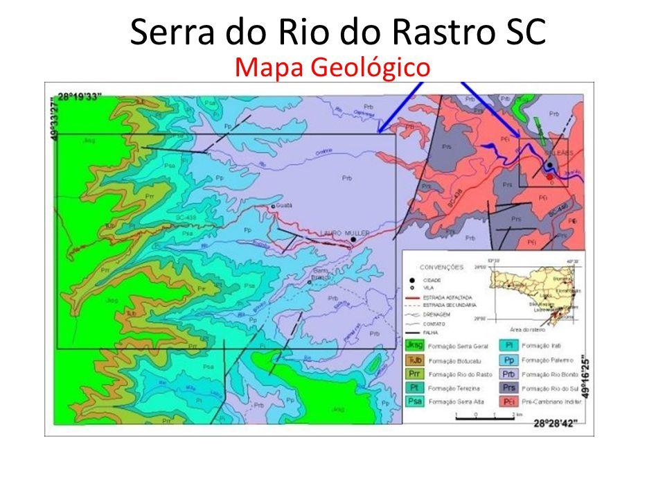 Serra do Rio do Rastro SC Mapa Geológico
