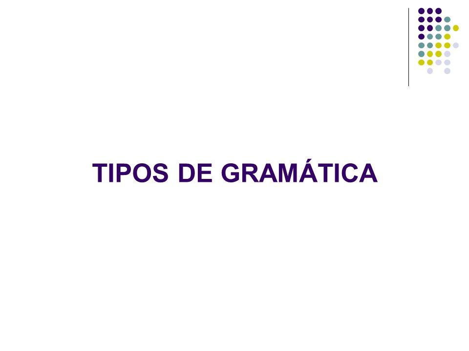 TIPOS DE GRAMÁTICA