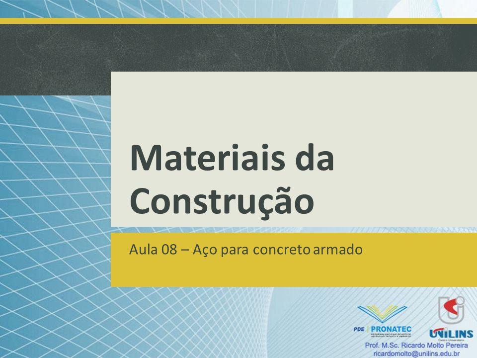 Materiais da Construção Aula 08 – Aço para concreto armado