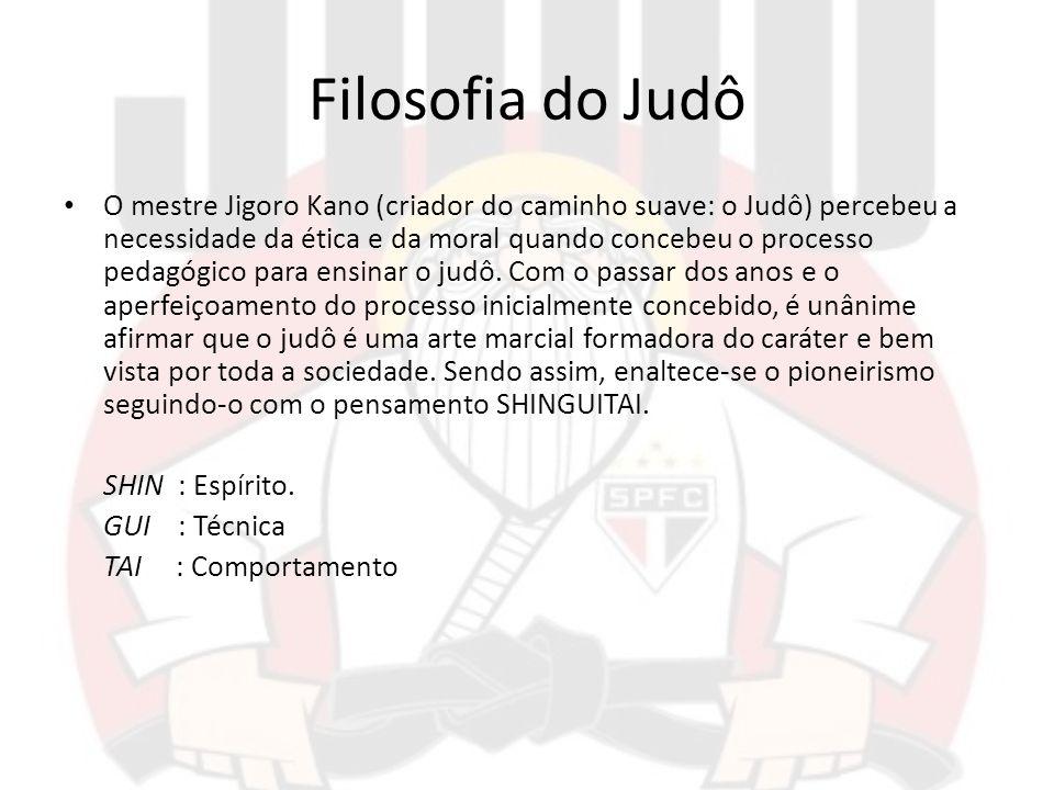 Filosofia do Judô O mestre Jigoro Kano (criador do caminho suave: o Judô) percebeu a necessidade da ética e da moral quando concebeu o processo pedagó