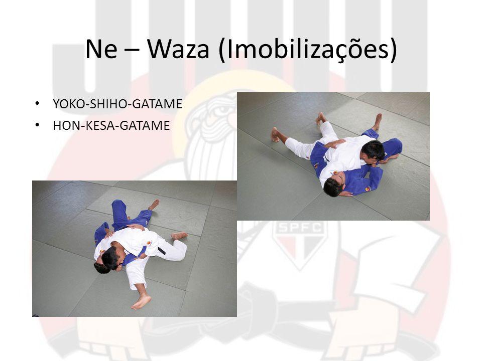 Ne – Waza (Imobilizações) YOKO-SHIHO-GATAME HON-KESA-GATAME