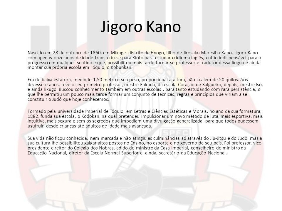 Jigoro Kano Nascido em 28 de outubro de 1860, em Mikage, distrito de Hyogo, filho de Jirosaku Maresiba Kano, Jigoro Kano com apenas onze anos de idade