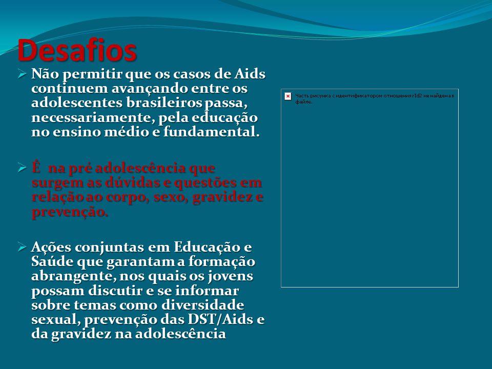 Desafios  Não permitir que os casos de Aids continuem avançando entre os adolescentes brasileiros passa, necessariamente, pela educação no ensino méd