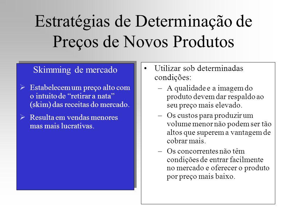 """Estratégias de Determinação de Preços de Novos Produtos Skimming de mercado  Estabelecem um preço alto com o intuito de """"retirar a nata"""" (skim) das r"""