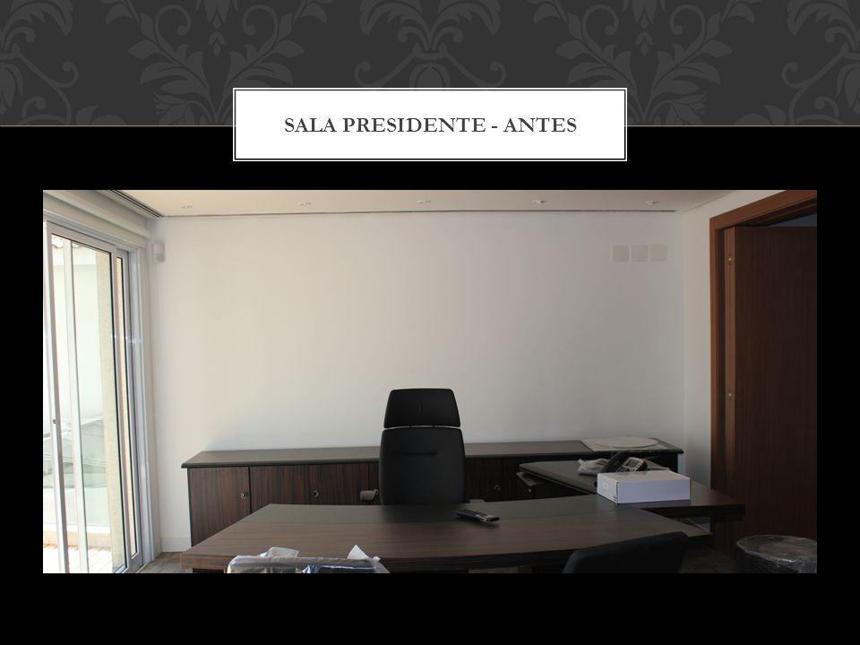 SALA DE VENDAS- DEPOIS Os painéis podem ser substituídos de acordo com a ocasião