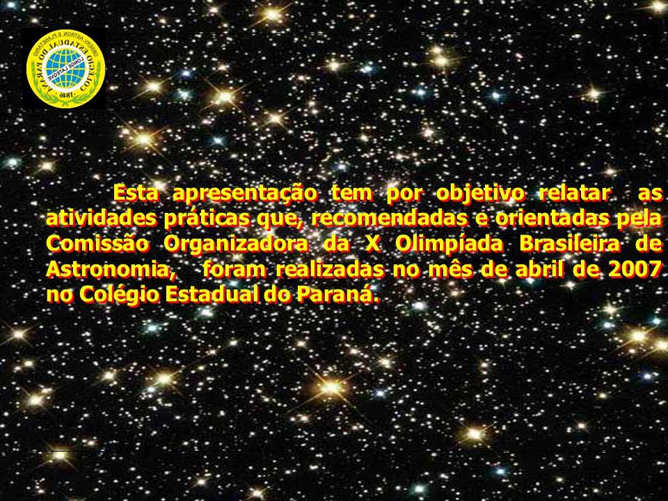 Esta apresentação tem por objetivo relatar as atividades práticas que, recomendadas e orientadas pela Comissão Organizadora da X Olimpíada Brasileira