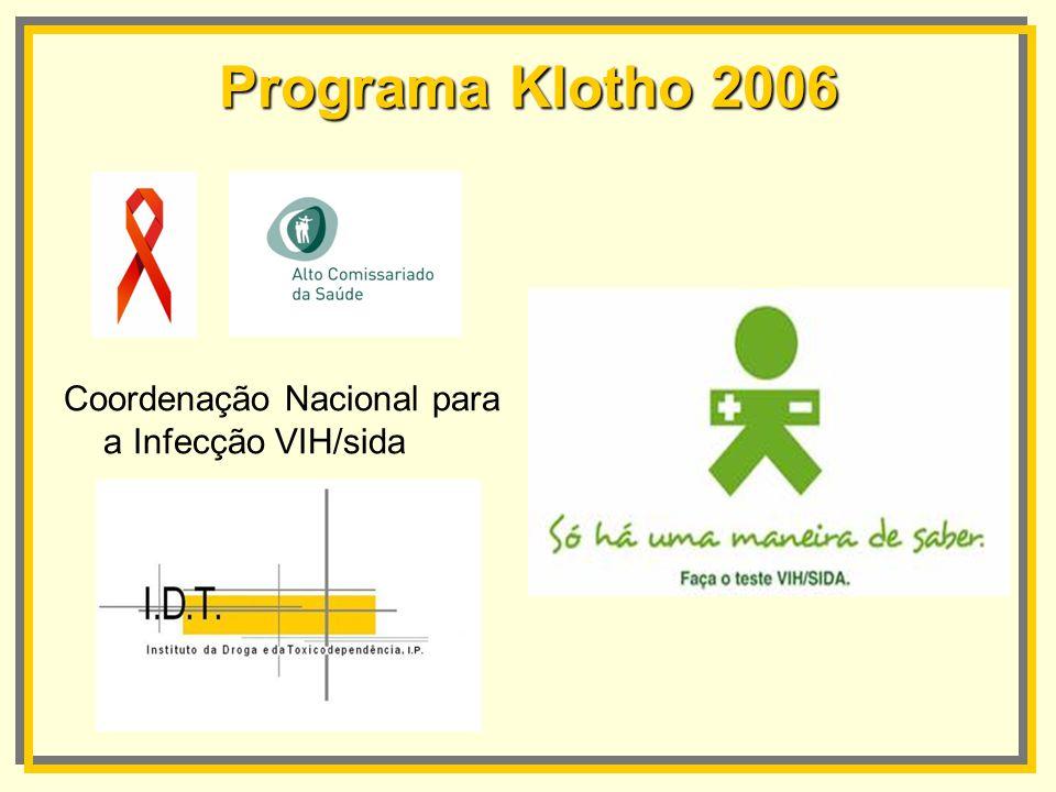 Programa Klotho 2006 Coordenação Nacional para a Infecção VIH/sida