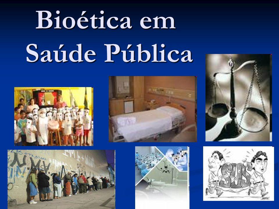 BIOÉTICA E SAÚDE PÚBLICA: ENTRE O INDIVIDUAL E O COLETIVO Da bioética privada à bioética pública .